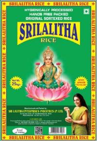 Sri Lalitha Sona Masoori Rice - 25 kg
